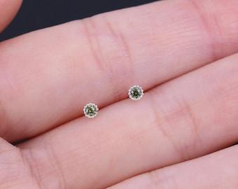 2mm Sterling Silver Earrings, Tiny earrings, Dainty cz studs, Silver studs, Delicate earrings, Minimalist Earrings, Cubic Zirconia Earrings