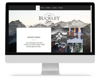 Website Design, Web Design, Custom Website, Business Website, Rustic Website, website template