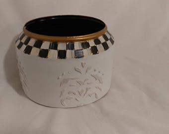 Metal Hand painted pot