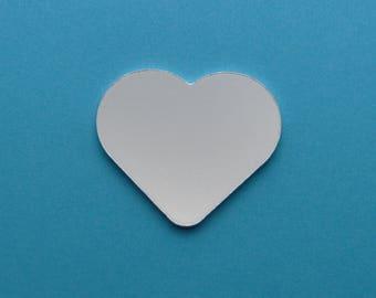 Aluminium stamping blanks, 5x, 30mm HEART (1.5mm depth), metal blanks, hand stamping blanks, heart blank, love blank, rounded heart blanks