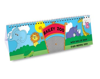 Personalised Zoo Desk Calendar Gifts Ideas For School Kids Childrens Year Table Him Animals