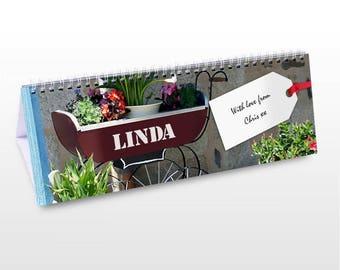 Personalised Gardener Desk Calendar Gifts Ideas For Grandma Grandpa Outside Garden