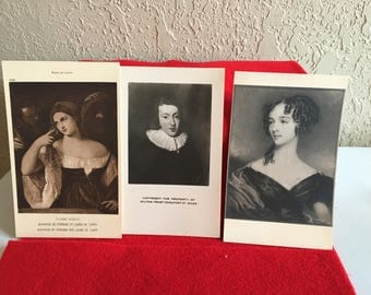 3 Vintage Art Museum Postcards