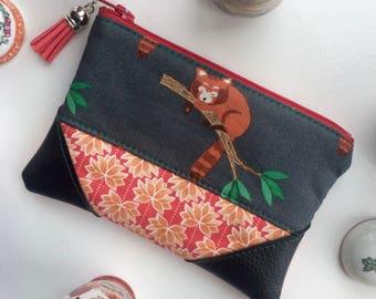 Coin Purse, Pouch Purse, Card Pouch, Zipper Pouch, Red Panda
