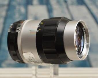 Nikon Nikkor-Q Auto 135mm f/3.5 prime camera lens