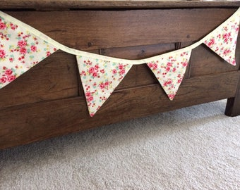 Beautiful Cream Floral Bunting