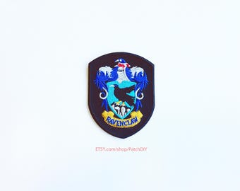 Patch RAVENCLAW Harry Potter iron on badge embroidered academy costume Wizard Magic DIY bag hat tie vest halloween kid fun craft custom
