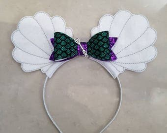 Mermaid Bow Headband Ears
