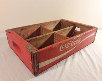 1973 Coca Cola Wooden Soda Crate