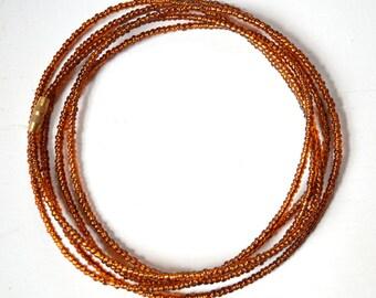 Brown - Waist Beads - Belly Chain - Belly Beads - African Waist Beads