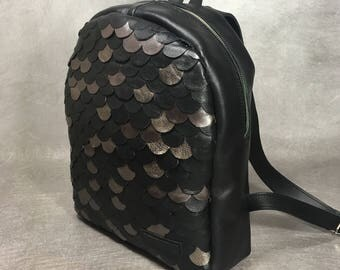 Hand made Leaher Backpack Small Fashion Style