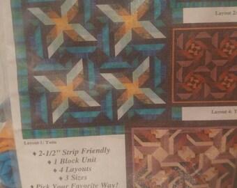 Changing Ways Throw quilt top kit
