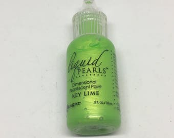 liquid pearls dimensional paint / key lime paint / card making / scrapbooking / arts and crafts / embellishment