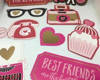 Paper Embellishments / Card making / Scrapbooking / Paper Cutouts / Paper crafts / Friendship / birthday