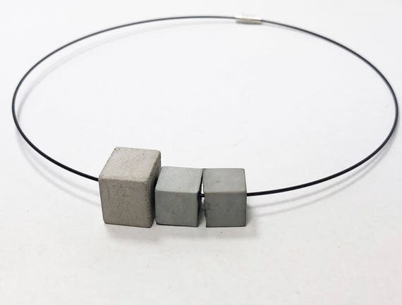 Choker Chain Necklace concrete jewelry gray made of concrete