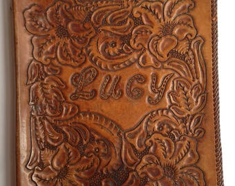 Lucy Leather Hand Tooled Binder