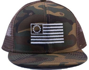 13 Colony Flag Camouflage Six Panel Mesh Back Hat
