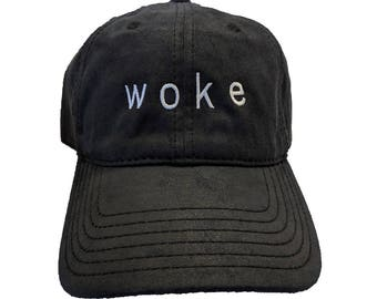 Woke Embroidered Black Hat