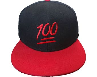 Keep It 100 Embroidered Black/Red Hat