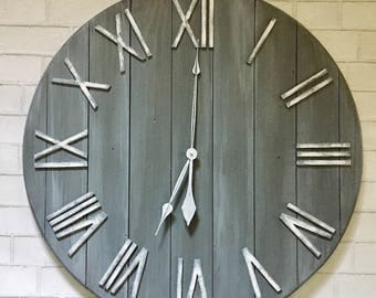 Starburst Clock Mid Century Wall Decor Oversized Wall Clock Part 62