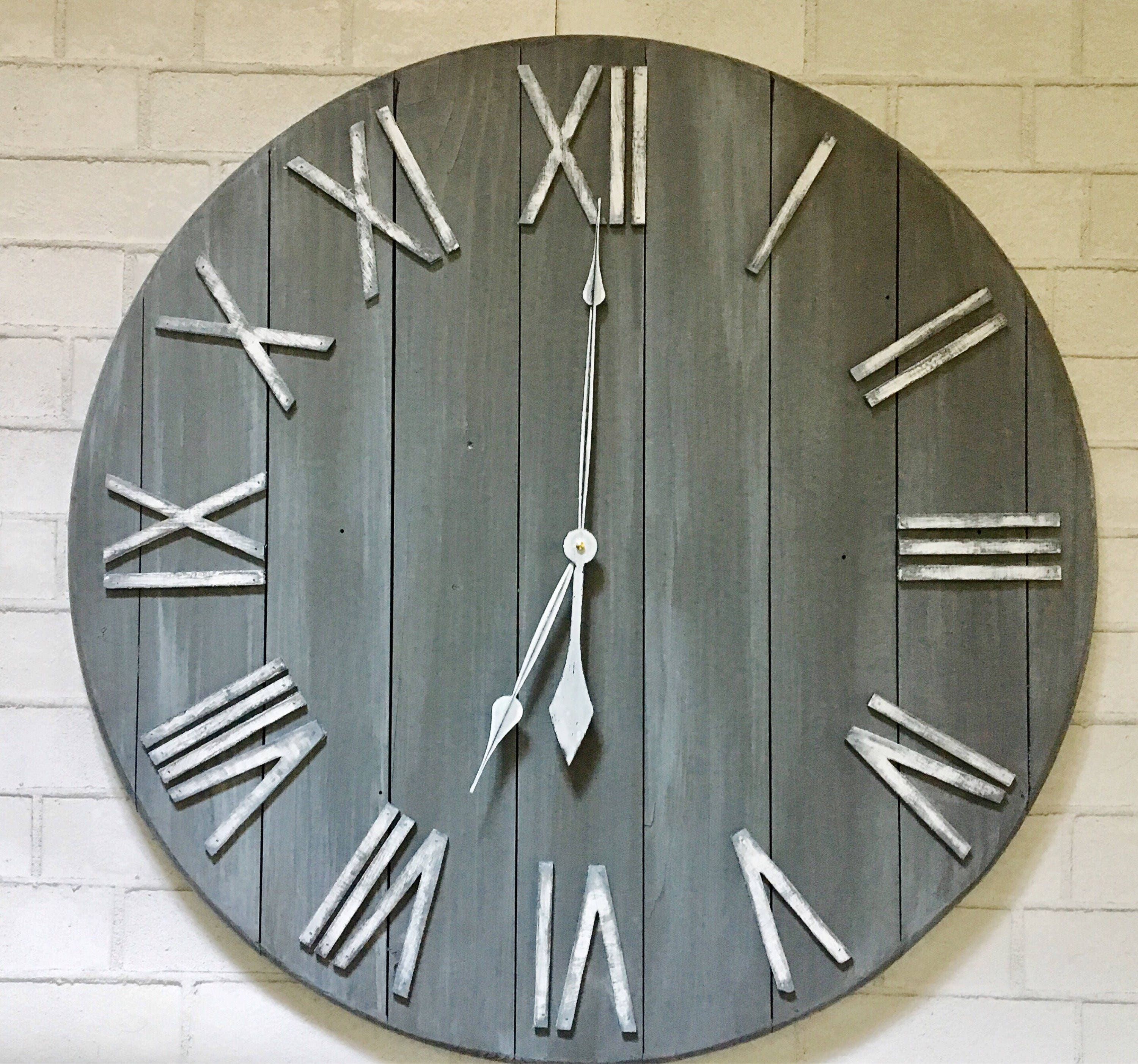 farmhouse wall clock large pictures to pin on pinterest