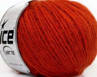 ICE AITANA ORANGE 50G 4 //53 FINGERING WOOL