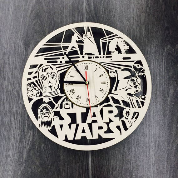 Star Wars Darth Vader Gift Wooden Wall Clock Star Wars
