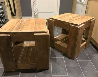 Rustic Handmade Coffee tables/Bedside tables