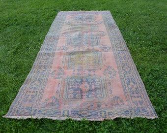 turkish rugs vintage turkish rug faded Rug 5' x 11.3' blue rugs Oushak Rug Vintage Oushak Rug Vintage Turkish Rug Turkish Carpet Code 940