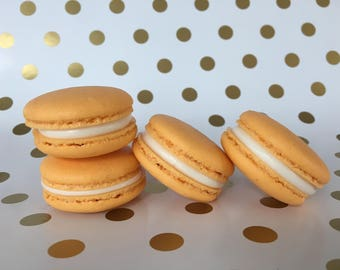 Orange Creamcicle Macarons