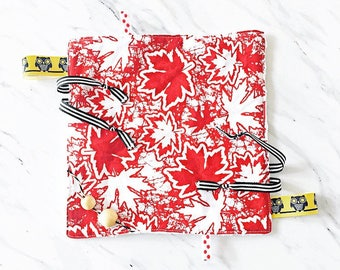 Minky Ribbon Blanket   Red And White Teething Blanket   Security Blanket   Lovey   Sensory Toy   Minky Teething Blanket   Canada 150 Blanket