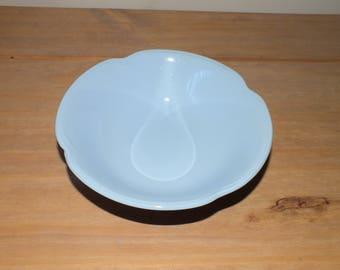 Vintage Johnson Brothers Greydawn Pastel Blue Ironstone Dessert - Cereal Bowls