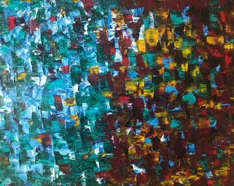 Visual migraine - acrylic palette knife on 40/50 cm stretched canvas