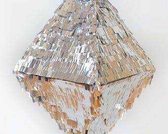 """Piñata """"Diamond Diamond"""" silver"""