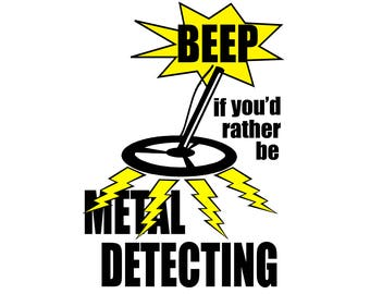 T-SHIRT: Metal Detecting / Beep! - Classic T-Shirt & Ladies Fitted Tee - (LazyCarrot)