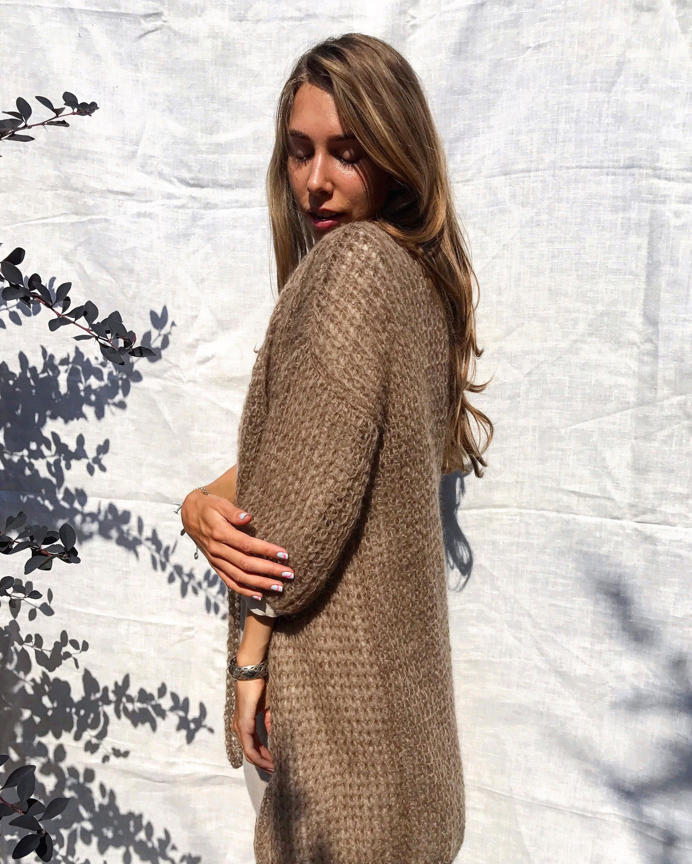 Brown knit cardiganwomen beige cardiganhandmade wool