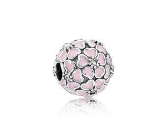 NEW Authentic Pandora Sterling Silver Pink Cherry Blossom Clear CZ Clip 791826EN40