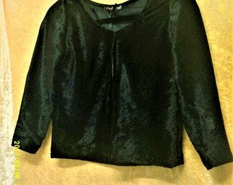Handmade Black Velvet Jacket