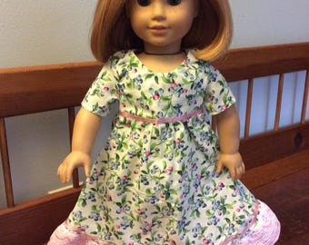 Floral dress made for an 18 inch doll like American girl