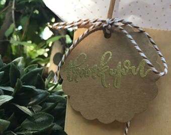 Thank You Round Gift Tag