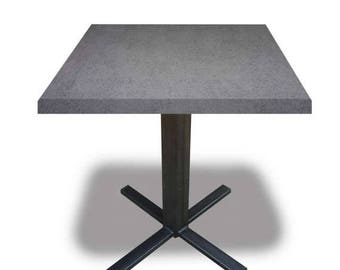 Solid Concrete Bistro Table - Bespoke, Handmade, Chic, Steel, Home Office, Meetings.