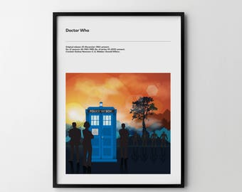 DOCTOR WHO 2017 TV Art Poster Print tv Show Poster Dr Who