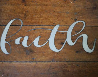 "Metal ""faith"" Sign"