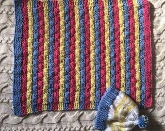 Car seat blanket and cap