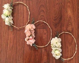 Bridal Shower Flower Crown, bridesmaids flower crown, Flower Crown, baby shower crown, bridesmaids crown, flower headband, bridal crown