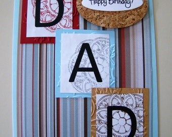 Handmade Birthday Day card for Dad #customcard #birthdaydad  #dad #greetingcard #handmadecard #cardmaking #papercrafts #cardsforsale