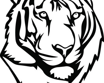 Tiger Svg Files Silhouettes Dxf Files Cutting files Cricut Silhouette
