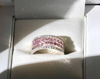 Unique Untreated Intense Pink Diamond Ring