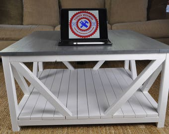 Modern Farmhouse Style Coffee Table | Coffee Table | Livingroom Table