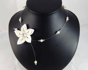 Collier Loane collier de mariage blanc et ivoire Personnalisable
